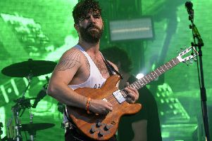 Yannis Philippakis of Foals.  Photo by ANDY BUCHANAN/AFP/Getty Images)