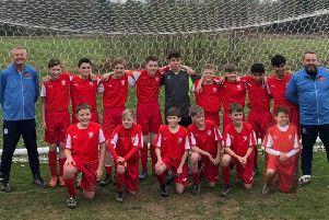 The SE Sussex Schools' under-13 football team which is through to the final of a national competition SUS-190204-124249002