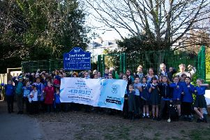 The banner at Southover Primary School