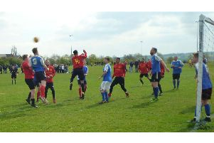 Division 1 Cup final action between CRC and The Bell
