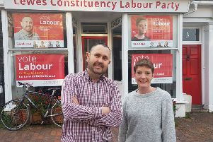 Labour candidates Matt Kent and Emily Clarke