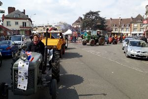 Some of the tractors that travelled the 50 miles south to Gournay-'en-Bray