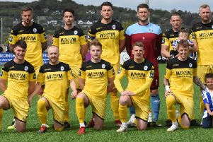 The team line up before kick off.