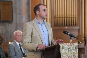 Matt Warman, speaking at a recent event in his constituency.