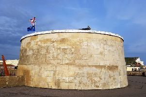 The Martello Tower on the seafront