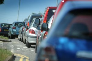 Traffic is mounting on the A27 around Falmer