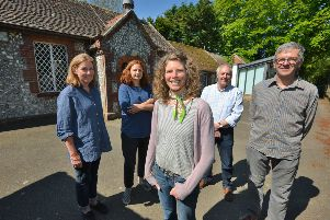 Members of the Rodmell and Ouse Valley Collective outside the former primary school