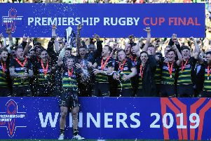 Saints beat Saracens to claim the Premiership Rugby Cup at Franklin's Gardens