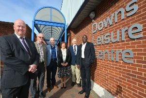 New healthcare hub for Seaford welcomed:  Andy Smith, Leader of Lewes District Council, Tony Nicholson (Seaford East), Duncan Kerr, CEO, Wave Leisure Trust, Linda Wallraven, Mayor of Seaford, Julian Peterson (Seaford East) and Sam Adeniji (Seaford South). photo by Cripps Photography SUS-190201-110125001
