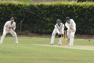 Woodhall Spa v Bracebridge Heath. Joe Irving batting for Woodhall.