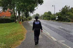 A police officer in Lewes this week. Picture: Lewes Police