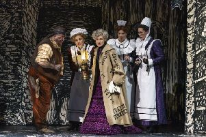 Caroline Wettergreen (centre) as Queen of the Night. Picture: Glyndebourne Productions Ltd (Bill Cooper)