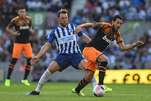 Dale Stephens in action against Valencia (Ian Westlake)
