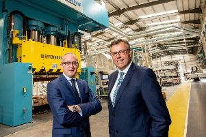 Jonathan Holmes, Managing Director, Creative Composites with Alastair Hamilton, CEO, Invest NI