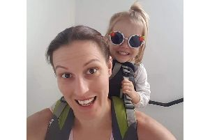 Rhyanne Jones from Gosport with her daughter Danaerys, 2, who are taking on the One Million Step Challenge for Diabetes UK with her other daughter Theia