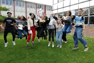 Steyning Grammar School said it was 'delighted' with the results