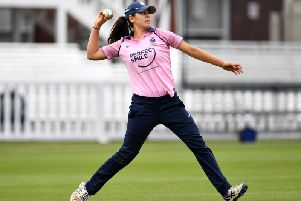 Maia Bouchier in action for Middlesex Women in 2018 (Photo by Justin Setterfield/Getty Images)