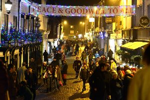 Lewes Late Night shopping in a previous year. Picture: Peter Cripps