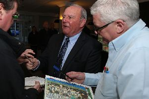 Tommy Robson, pictured at the 50th anniversary dinner to celebrate the Cobblers' only season in the top flight of English football