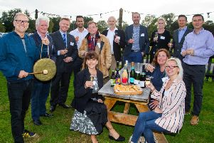 Danny Pike from BBC Sussex & sponsors at the Sussex Food & Drink Awards 2020 launch event
