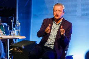 Broadcaster Gavin Esler was in Lewes to give a wide-ranging talk on Brexit (photo by Carlotta Luke)