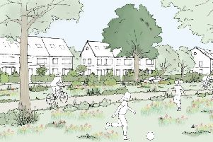 The Green Character Area sketch   Northern Arc Burgess Hill.jpg  Picture: Homes England SUS-190801-143411001