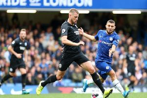 Brighton and Hove Albion defender Adam Webster was backed by manager after his error against Chelsea