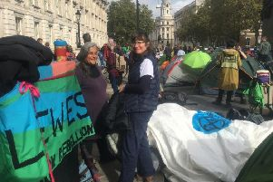 Extinction Rebellion activists in London this week