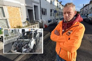 Jon Maxfield has set up a fundraising page in wake of the arson attack in Newhaven. Photo by Peter Cripps