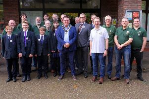 Uckfield mayor, Spike Mayhew, with members of Uckfield Model Railway Club, by Ron Hill