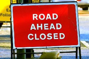 The road was closed temporarily