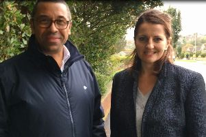 James Cleverly and Caroline Ansell in Eastbourne today