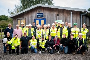 Savills spent two days refurbishing a vandalised Lewes Scout hut