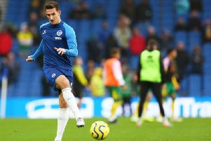 Brighton and Hove Albion defender Lewis Dunk has been impressive this season but has not been able to force his way into Gareth Southgate's England squad