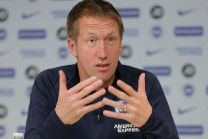 Brighton and Hove Albion manager Graham Potter will lead a team out at Old Trafford for the first time (Picture: Paul Hazelwood BHAFC)