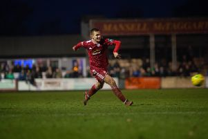 Joel Colbran scored a consolation as Worthing were knocked out of the FA Trophy. Picture from Burgess Hill Town v Worthing, 26/12/2018. Photo by Marcus Hoare