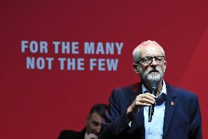 Labour leader Jeremy Corbyn addresses a Labour rally at the o2 Academy in Manchester, while on the General Election campaign trail. PA Photo. Picture date: Thursday November 7, 2019. Photo: Peter Byrne/PA Wire