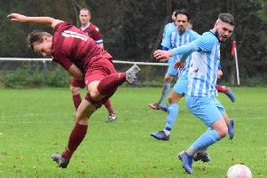Matt Rodrigues-Barbosa. AFC Uckfield Town v Little Common. Picture by Mike Skinner