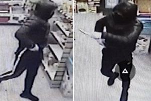 Police have released this CCTV image of the suspect following the armed robbery in Peacehaven. Picture: Sussex Police