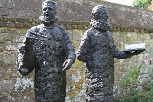 Statue of madrigal singers in Grange Gardens, Lewes, photo by Andrew Buxton