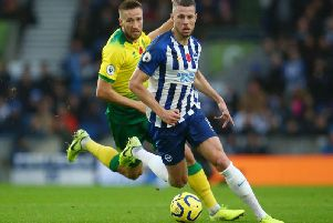 Brighton and Hove Albion defender Adam Webster has adapted well to the Premier League following his summer arrival from Bristol City