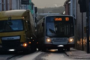 The bus in Lewes.  Photo contributed