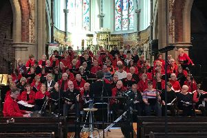 Concentus rehearsing before the concert