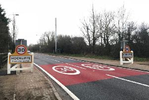 The new 30mph speed limit on the A5 through Hockliffe