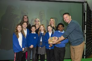 Keep Britain Tidy National Eco Schools Awards held at the Etihad Stadium Manchester with BBC presenter Steve Backshall,  Martin Birchall Photography