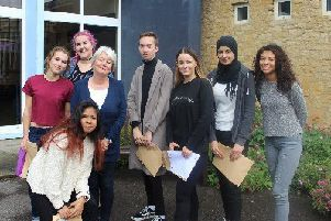 Students receiving their A-Level results at a school in Aylesbury last year