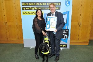 MP John Howell supports Guide Dogs access campaign