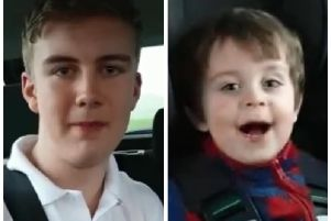 Ty O'Gormley (left) and three year-old brother, Chase. (Video: courtesy of the Music Yard, Larne)