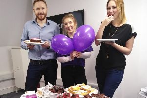 Daniel Edwards, client services director at Cognition, Sophie Easthope and account manager Lucy Hardy.