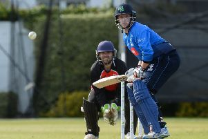 Kevin O'Brien of Leinster Lightning during a T20 festival test with Munster Reds. Pic by Sportsfile.
